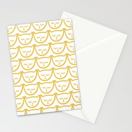 Yellow Cat Pattern Stationery Cards