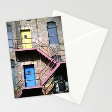 1 Door, 2 Door, Yellow Door, Blue Door Stationery Cards