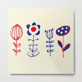 folk floral Metal Print