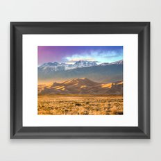 Deer and the Dunes Framed Art Print