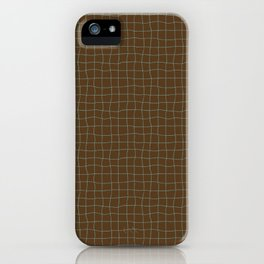 Cheesecloth - Chocolate-Blue iPhone Case