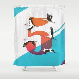 5Birds Shower Curtain