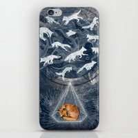 orange iPhone & iPod Skins featuring GHOSTS  by Sandra Dieckmann