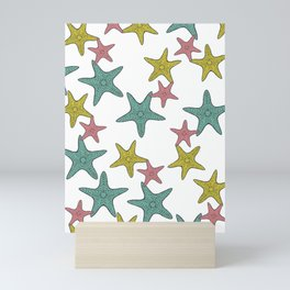 starfish tropical print Mini Art Print