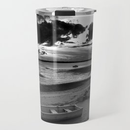 Black and White Sunset Travel Mug
