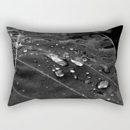 Greenery and leaf V Black and white Rectangular Pillow