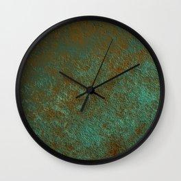 Green Patina Copper rustic decor Wall Clock