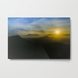 Sunset Scene Santiago de Chile Aerial View Metal Print