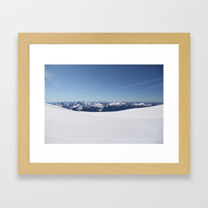 Cloudless Summit Framed Art Print