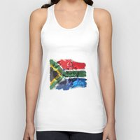 mandela Tank Tops featuring Nelson Mandela by Behrooz Falsafi