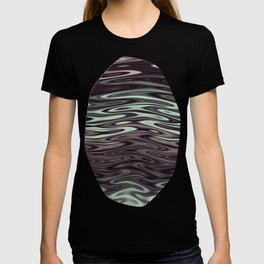 Ripples Fractal in Mint Hot Chocolate T-shirt
