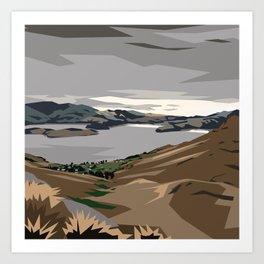 Cass Bay, New Zealand Art Print