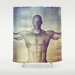 Medical Technology and Advanced Detection Scan Diagnostics System Shower Curtain