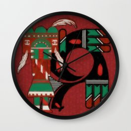 Visions Of Hopi Wall Clock