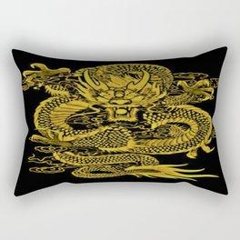 Epic Dragon Yellow Rectangular Pillow