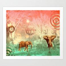 Elephants in the Ballroom Art Print