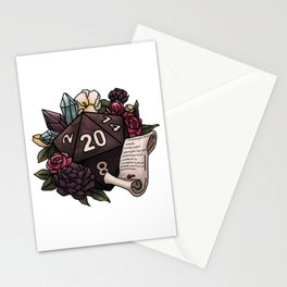 Warlock Class D20 - Tabletop Gaming Dice Stationery Cards