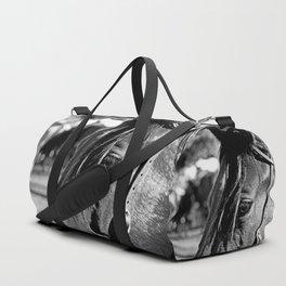 Horse-1-B&W Duffle Bag