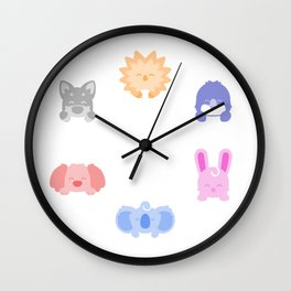Cute Critter Gang Wall Clock