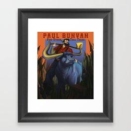 Paul Bunyan Framed Art Print