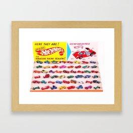 1970's Original Hot Wheels Redline Toy Department Store Display Poster Framed Art Print