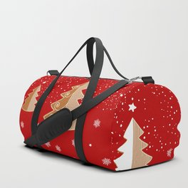 Red & white  gingerbread  #Christmas design Duffle Bag