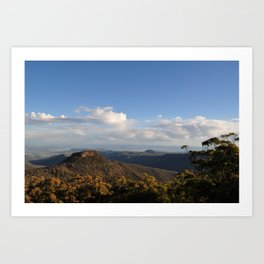 Afternoon Mountain Lookout  Art Print