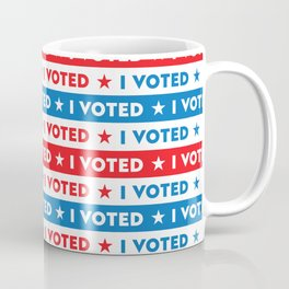 Patriotic I VOTED Masks and More! Coffee Mug