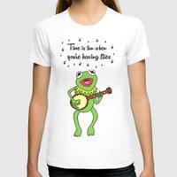 kermit T-shirts featuring Kermit having fun by BlackBlizzard