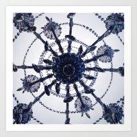 Chandelier Mandala Art Print
