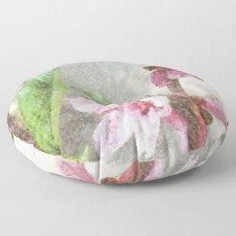 Fading Peach Blossom Watercolor Floor Pillow