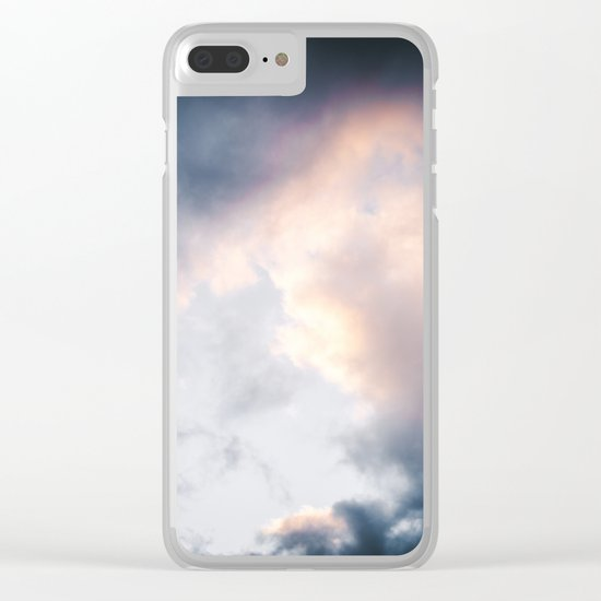 Creamy Clouds Clear iPhone Case