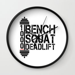 1000 Pounds Bench Squat Deadlift Powerlift Club Fitness Bodybuilder Bodybuilding Wall Clock