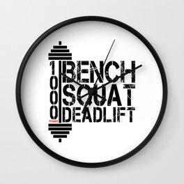 1000 Pounds Bench Squat Deadlift Powerlift Club Fitness Bodybuilder Bodybuilding Wall Clock