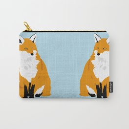 Red Fox (Light Background) Carry-All Pouch