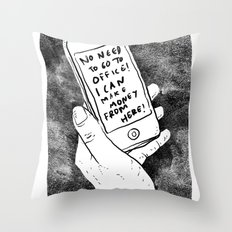 smartphone Throw Pillow