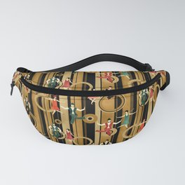 Art Deco Charleston Dancers Pattern Fanny Pack