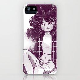 Morado y blanco iPhone Case