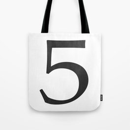Number 5 (Black) Tote Bag