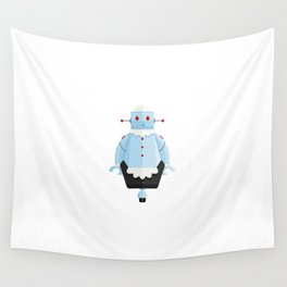 Rosie The Robotic Maid Minimal Sticker Wall Tapestry