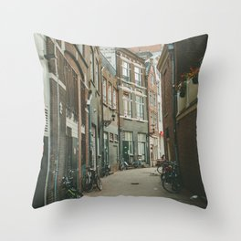 Amsterdam Alley Throw Pillow