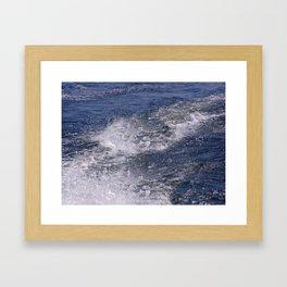 Lake Waves Framed Art Print