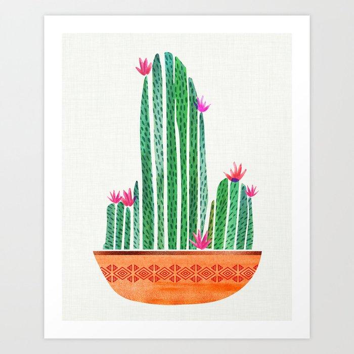 Cactus with Terra Cotta Art Print