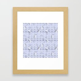 Floral Lace Collection - Blue Framed Art Print