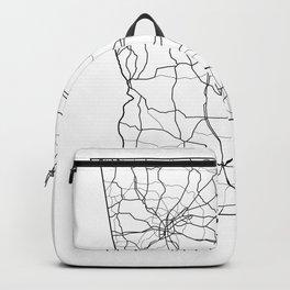 Georgia White Map Backpack