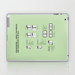 Bookbinding – About Paperback and Hardcover in Detail (in English) Laptop & iPad Skin