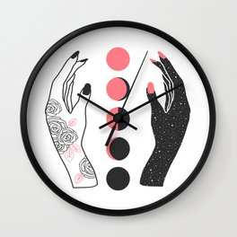 Moonrise Besties Wall Clock