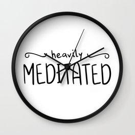 Heavily Meditated Wall Clock