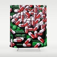 pills Shower Curtains featuring Pills by noirlac