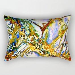 Opalesque Gemstones Abstract Rectangular Pillow